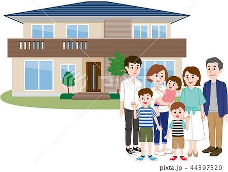 二世帯住宅 大家族 44397320