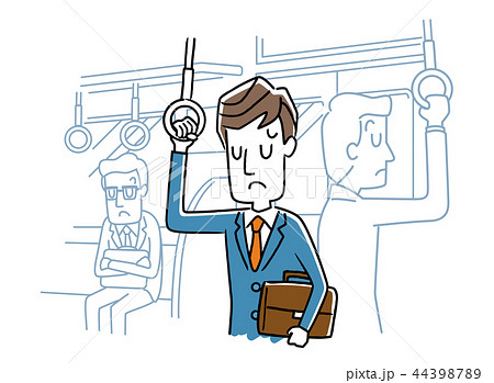 電車内の男性 44398789