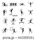 アイコン スポーツ アメリカンフットボールのイラスト 44399591