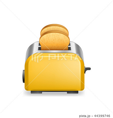 Realistic Detailed 3d Glossy Toaster with Bread. Vector 44399746