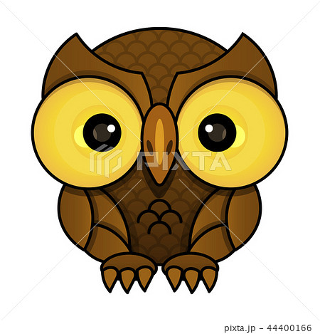 Owl or owl bird sketch vector isolated icon. 44400166