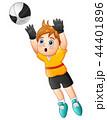 子供 少年 サッカーのイラスト 44401896