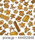 パスタ パターン 柄のイラスト 44402846