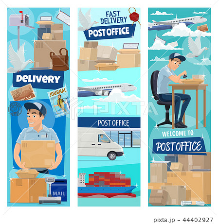 Post mail delivery, working postman 44402927