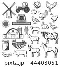 Farm, agriculture and cattle vector 44403051