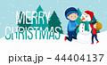 クリスマス ゆき 雪のイラスト 44404137
