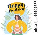 お誕生日 バースデー 誕生日のイラスト 44405636