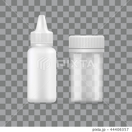 Pill Aerosol Bottles Isolated 3D Icons Transparent 44406357