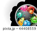 ウイルス バクテリア バイキンのイラスト 44408559