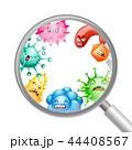 ウイルス 微生物 バクテリアのイラスト 44408567