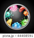 ウイルス バクテリア バイキンのイラスト 44408591