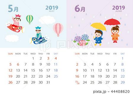 2019年5月6月 イベントのカレンダーのイラスト素材 44408620 Pixta
