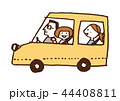 家族 ドライブ 自動車のイラスト 44408811