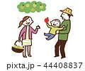 家族 笑顔 梨のイラスト 44408837