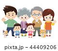仲良し大家族とペット 春服 44409206