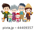 仲良し大家族とペット 冬服 44409357