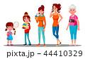 女性 イラスト 挿絵のイラスト 44410329