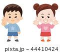 男の子と女の子 春服 44410424