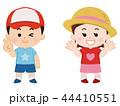 男の子と女の子 夏服 44410551