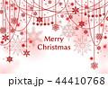 雪 クリスマス クリスマスカードのイラスト 44410768