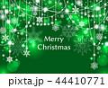 雪 クリスマス クリスマスカードのイラスト 44410771