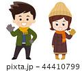 夫婦 冬服 笑顔のイラスト 44410799