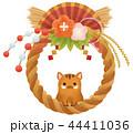 しめ縄 猪 亥のイラスト 44411036