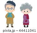 シニア 冬服 夫婦のイラスト 44411041