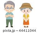 シニア 夏服 夫婦のイラスト 44411044