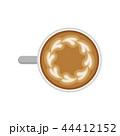 カフェ・ラッテ コーヒー カップのイラスト 44412152
