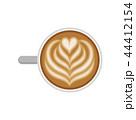コーヒー カフェ・ラッテ ベクトルのイラスト 44412154