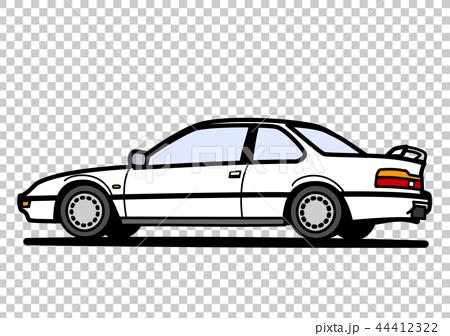 懷鄉國內小轎車背面圖白色汽車例證 44412322