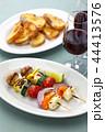 ハルーミチーズと野菜のベジタリアンケバブ 44413576