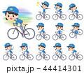 女性 作業員 自転車のイラスト 44414301
