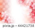 桜 和紙 背景のイラスト 44421738