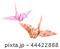 折り鶴 水彩画 44422888