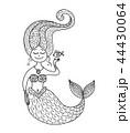 マーメイド マーメード 人魚のイラスト 44430064