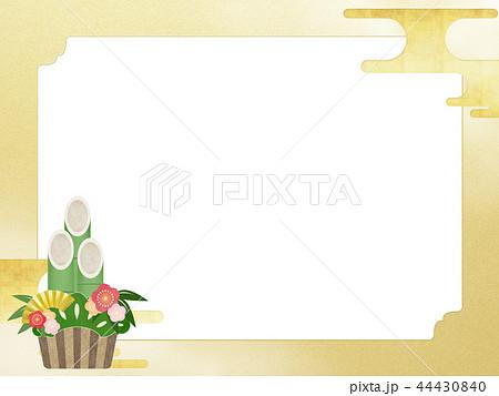 和-和風-和柄-和紙-背景-門松-金箔-正月 44430840