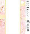 和柄 桜 ピンクのイラスト 44431025