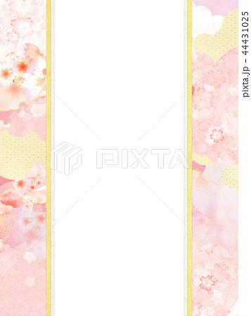 和-和風-和柄-背景-和紙-春-桜-ピンク-のし 44431025
