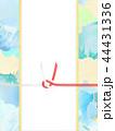 和-和風-和柄-背景-和紙-夏-紅葉-ブルー-水引-のし 44431336