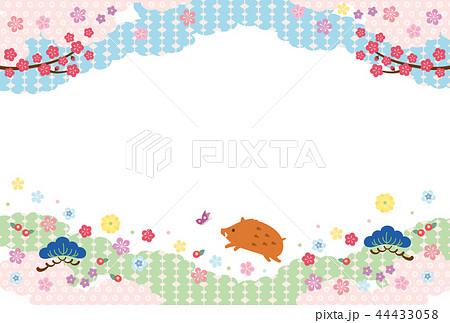 亥年-年賀状テンプレート 44433058