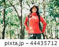 女性 秋 ハイキングの写真 44435712