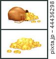 金色 黄金色 ゴールデンのイラスト 44436298