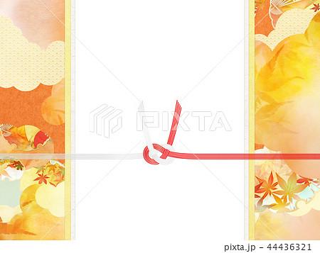 和-和風-和柄-背景-和紙-秋-紅葉-金-水引-のし紙 44436321