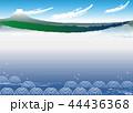 富士山と海4_フレーム&背景 44436368