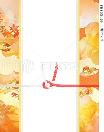 和-和風-和柄-背景-和紙-秋-紅葉-金-水引-のし紙 44436398
