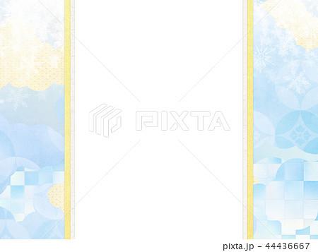 和-和風-和柄-背景-和紙-冬-雪-白-のし紙 44436667