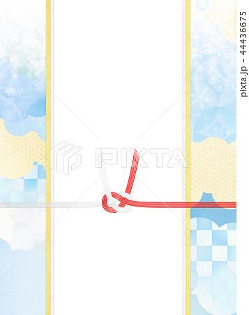 和-和風-和柄-背景-和紙-冬-雪-白-のし紙-水引 44436675