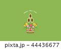 門松 年賀状 はがきのイラスト 44436677